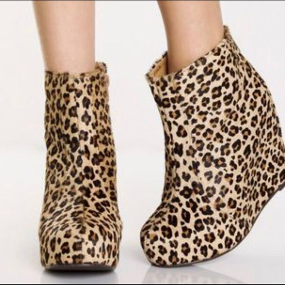 1bc13a1d32fd Jeffrey Campbell Shoes - Jeffrey Campbell Wedge Ankle Boot Leopard Print